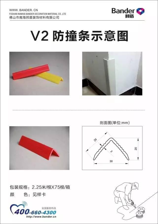 V2防撞条示意图